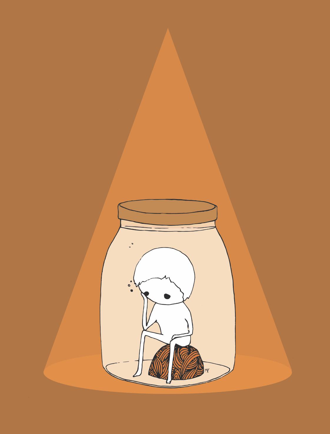 KinderUndJugendberatung_Illustration_orange_lichstrahl